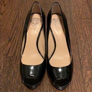 "Vince Camuto Patent Peep Toe 3"" Heels - 8M"